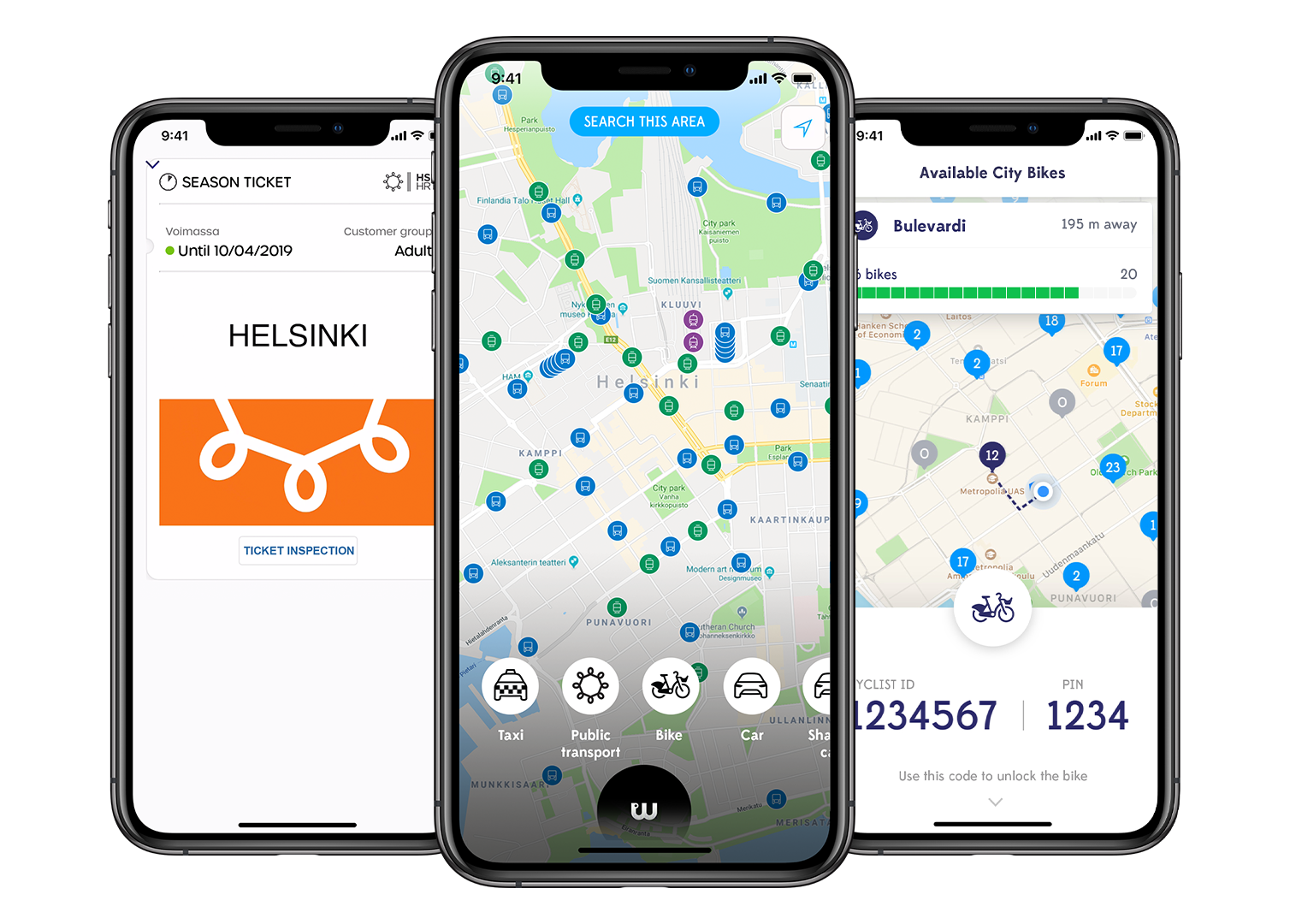 Whim - All your journeys with bus, tram, taxi, car, bike and more in